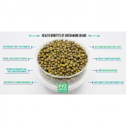 FYZ Herbs Dried Green Mung Bean Kacang Hijau 500g [Bottle Pack] 绿豆罐装 500g