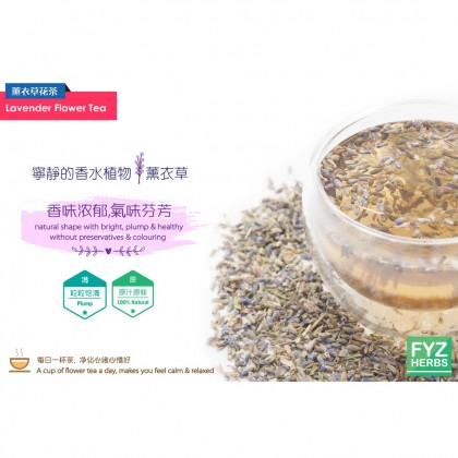 FYZ Herbs Lavender Flower Tea (50g) [Value Pack] 薰衣草花茶袋装 50g