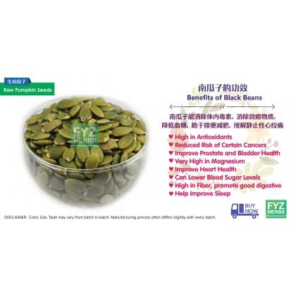 FYZ Herbs Raw Pumpkin Seeds / Biji Labu 1KG [Bulk Pack] 生南瓜子袋装 1KG