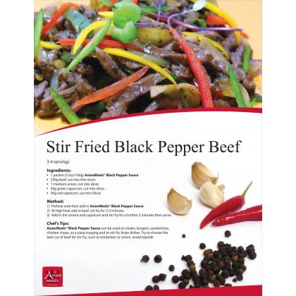 Asian Meals Sos Lada Hitam / Black Pepper Sauce 120g 马拉西亚黑胡椒酱
