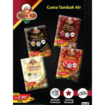 Kari Kit Moroccan Meat/Chicken Sweet, Sour, & Spicy Exotic Dry Curry Paste 150g